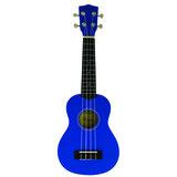 sopraan ukelele basswood blauw_