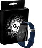 QY Smart Band activity tracker met hartslagmeter - blauw_