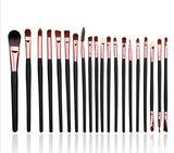 Set van 20 make-up kwasten voor oogschaduw, lippenstift, concealer en foundation_