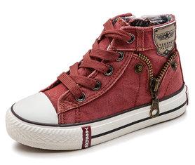 Sneaker Jeans – vaalrood