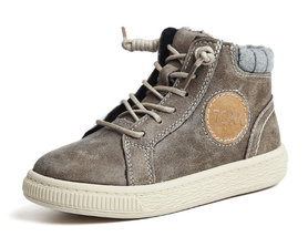 Leren sneaker Jesse –  dark olive