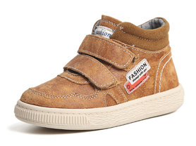 Leren sneaker Levi –  camel