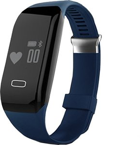 QY Smart Band activity tracker met hartslagmeter - blauw