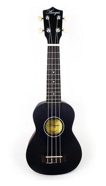 sopraan ukelele basswood zwart