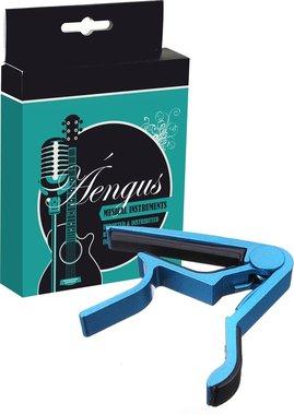 Gitaar Capo Deluxe - voor gitaren met stalen snaren – blue metallic