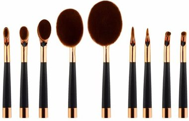 Evvie Deluxe Edition 9-delige Oval Brush set