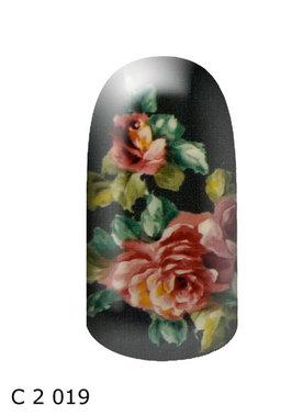 bloem donkergroen roze
