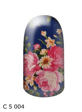 bloem blauw roze