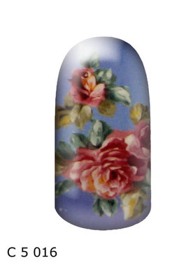 bloem lichtblauw roze
