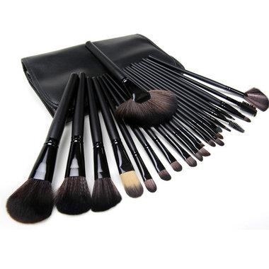 Set van 24 make-up kwasten zwart