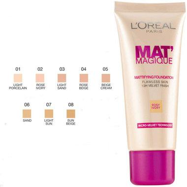 L'oreal Mat' Magique Mattifying Foundation Light Sand 03