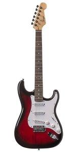 Áengus Elektrische gitaar Stratocaster model - Red Burst